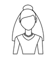 Newly married woman character vector image