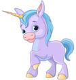baby unicorn vector image vector image