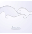 Abstract paper spiral waves background vector image