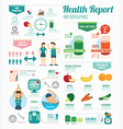 Infographic health sport and Wellness template vector image