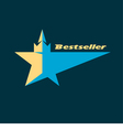 Star Logo For The Bestsellers vector image vector image