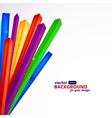 Colored corners of on a white background EPS10 vector image vector image