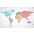 Abstract world map of round dots vector image