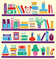 Background of books on the Bookshelves vector image