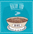 bowl of oatmeal with sugar vector image