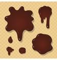 Chocolate splash background vector image