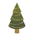 colorful green abstract christmas tree with trunk vector image