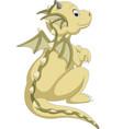 cute baby dragon cartoon vector image
