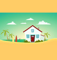 house of the beach vector image