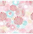 inky circles in seamless pattern vector image