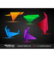 Origami triangle style speech Banner vector image