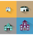 set house Buildings icon vector image