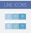 set of 6 editable animal icons includes symbols vector image