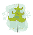 vintage christmas tree card vector image