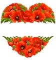 poppy frame in the shape of heart vector image