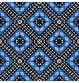 African geometric pattern in blue vector image