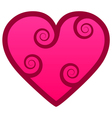 Heart with swirls vector image