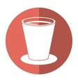 chocolate cup beverage breakfast - round icon vector image