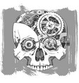 clockwork skull vector image