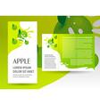 brochure green apple splash vector image vector image