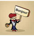 Hello from france people vector image vector image