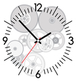 clock and gears vector image