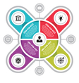 Infographic circle business concepts with icons vector image