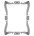 art nouveau ornamental frame vector image