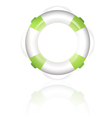 green lifebuoy vector image vector image