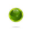 abstract eco green bubble isolated - vector image
