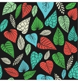 Background with abstract leaves vector image