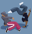 Break dancers vector image