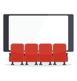 cinema chairs front of tv vector image