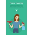 Cleaning Service Flat Style Web Banner vector image