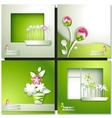 Green summer invitation card vector image
