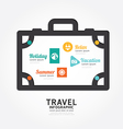 infographics travel luggage design diagram line vector image