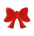 Isolated red bowtie design vector image