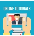 Mobile education concept vector image