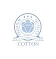 Premium Qality Cotton Product Logo Design vector image