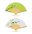 two japanese folding fans vector image