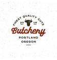 vintage butchery logo retro styled meat shop vector image