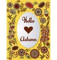 Hello autumn background colorful vector image