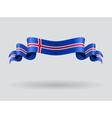 Icelandic wavy flag vector image vector image