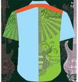Guitar shirt vector image