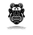 a black mask vector image vector image