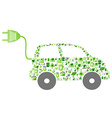 green eco pattern icon car vector image vector image