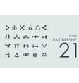 Set of partnership icons vector image