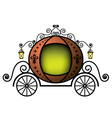 fairytale carriage vector image vector image