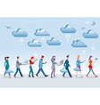 Cloud Computing Walking vector image vector image