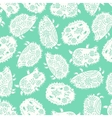 Seamless pattern with decorative hedgehogs Cute vector image vector image